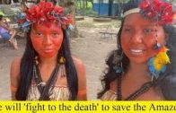 We will 'fight to the death' to save the Amazon